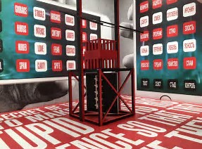 DB barbara kruger and russian futursit media kiosk at vac zaterre exhibit on russian revolution