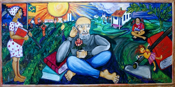 Panel Paulo Freire by Luiz Carlos Cappellano. CEFORTEPE Center for Training Technoloresized