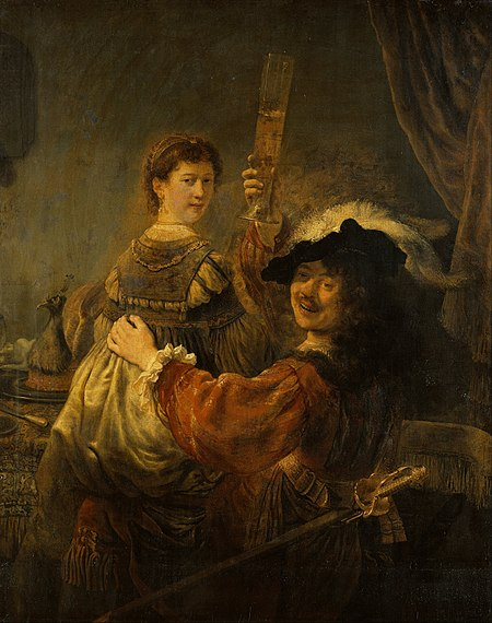 450px Rembrandt Rembrandt and Saskia in the Scene of the Prodigal Son Google Art Project