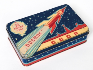 USSR Rocket Sweet Tin