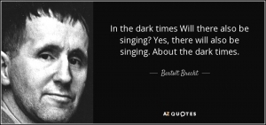 Living in dark times: the poetry of Bertolt Brecht