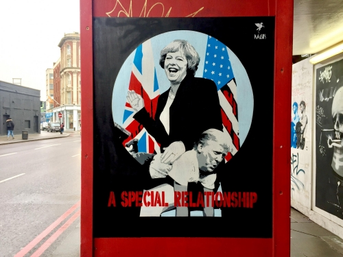 Theresa May spanks Donald Trump