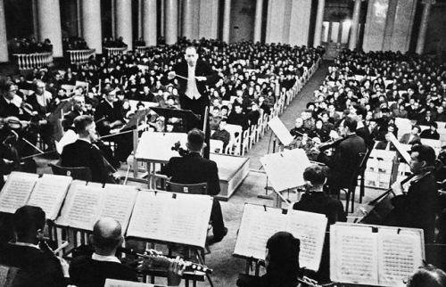 Karl Eliasberg conducting, on 9 August 1942