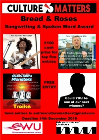The Winners! The Bread and Roses Award for Songwriting and Spoken Word