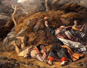 King Lear and the Fool in the Storm by William Dyce