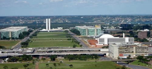 Oscar Niemeyer's futuristic civic buildings in Brasilia