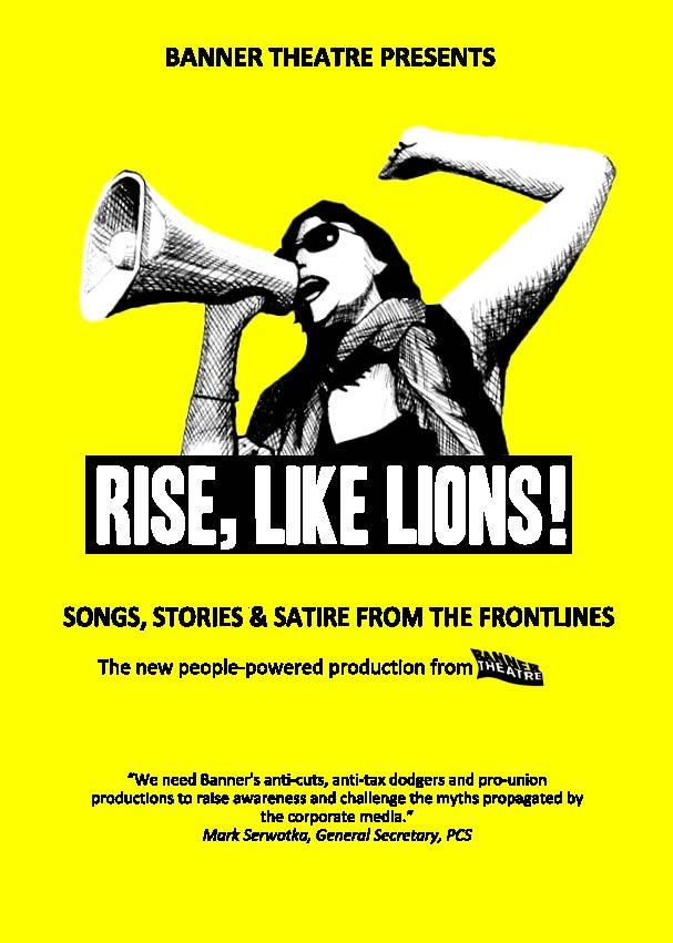 banner theatre Rise Like Lions