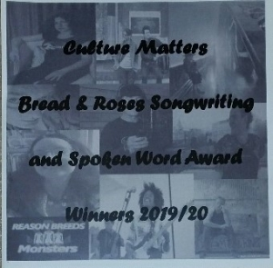 Winners of the Bread and Roses Songwriting and Spoken Word 2019/20: the CD