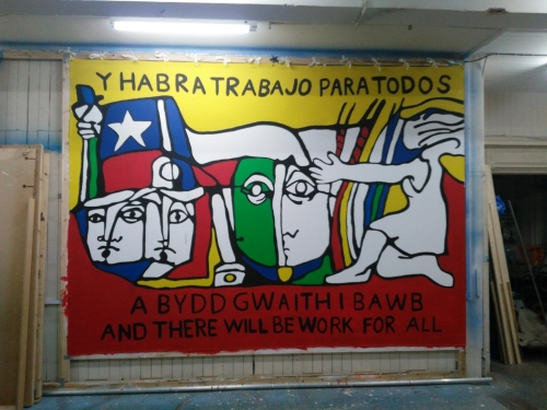 There will be work for all! The story of  a Chilean mural